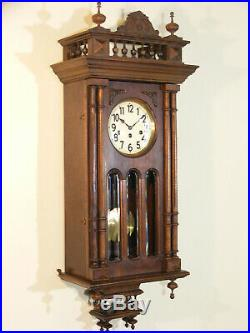 Carillon cadran émaillé Junghans style Henry II Westminster 8 gongs chime clock