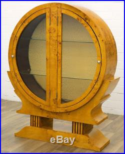 Vitrine Bar Buffet Armoire Vitree Rond Bibliotheque Style Art Deco Loupe D'orme